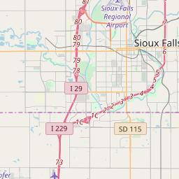 Sioux Falls Zip Code Map Sioux Falls, South Dakota ZIP Code Map   Updated May 2020