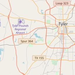 Tyler Texas Zip Code Map Updated July 2020