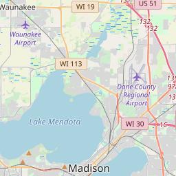 Madison Wisconsin Zip Code Map Updated July 2020