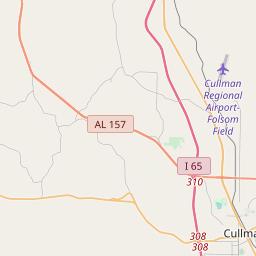 Cullman, Alabama ZIP Code Map - Updated January 2020