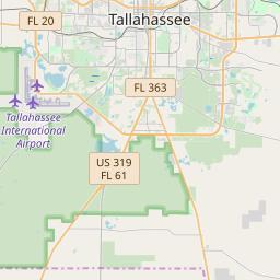 Tallahassee, Florida ZIP Code Map - Updated December 2019