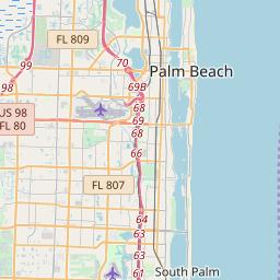 Palm Beach Zip Code Map West Palm Beach, Florida ZIP Code Map   Updated May 2020