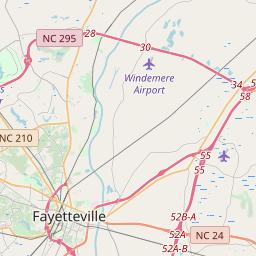 Fayetteville North Carolina Zip Code Map Updated July 2020