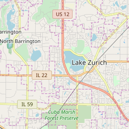 Lake Zurich Illinois Zip Code Map Updated July 2020