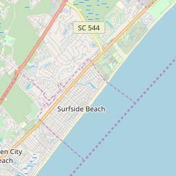 surfside beach south carolina map Surfside Beach South Carolina Zip Code Map Updated July 2020