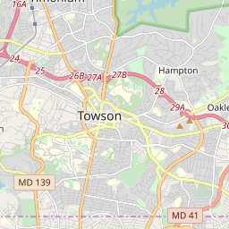 map of towson maryland Towson Maryland Zip Code Map Updated July 2020 map of towson maryland