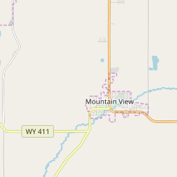 mountain view wyoming map Mountain View Wyoming Zip Code Map Updated July 2020 mountain view wyoming map