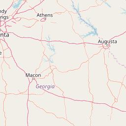 Interactive Map Of Georgia.Interactive Georgia Heat Zone Map Average Days The Temperature