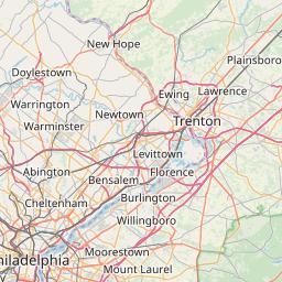 Trenton New Jersey Zip Code Map Updated July 2020